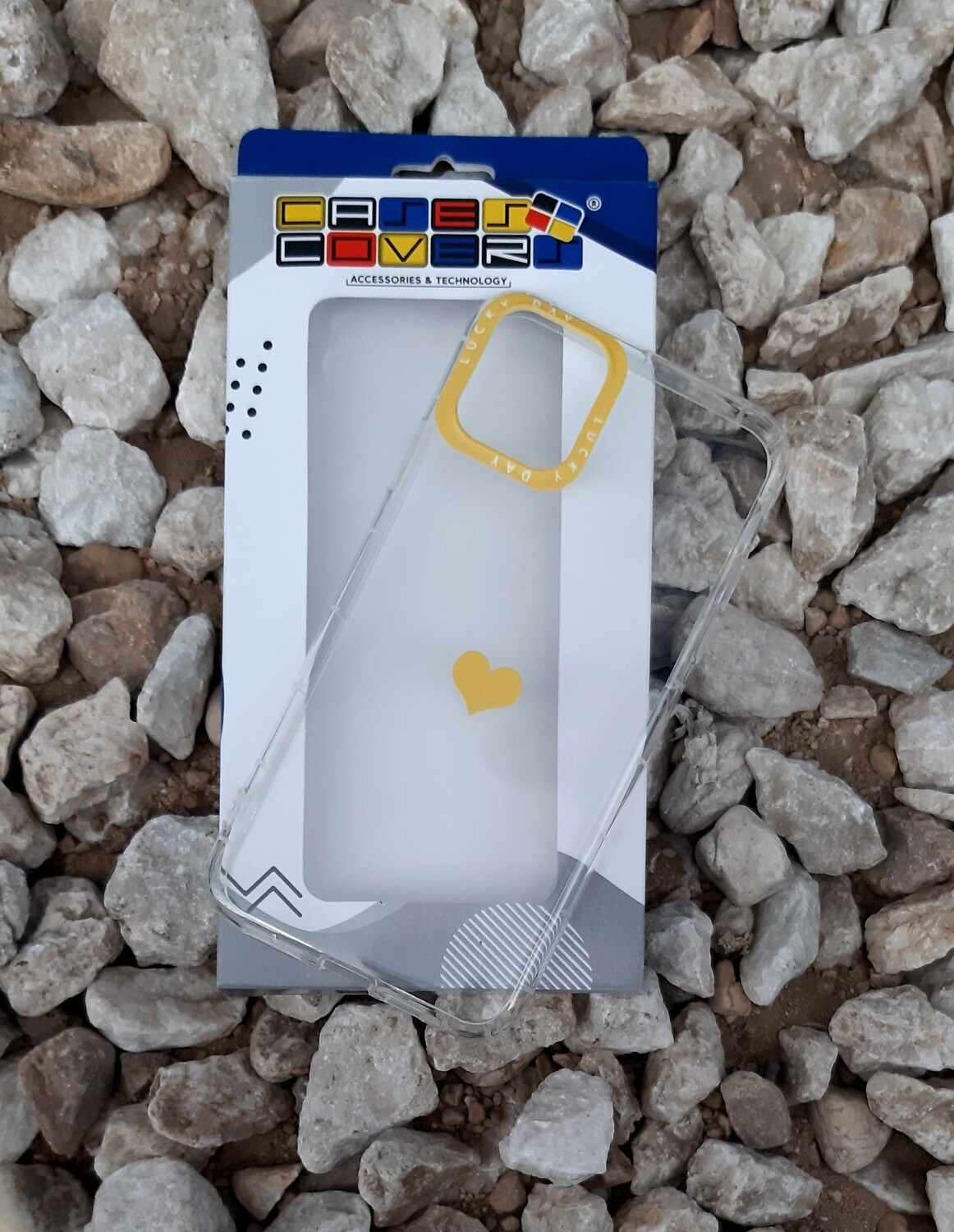 Case de silicona para IPhone11 Pro Max, Color Transparente Borde Cámara Amarillo