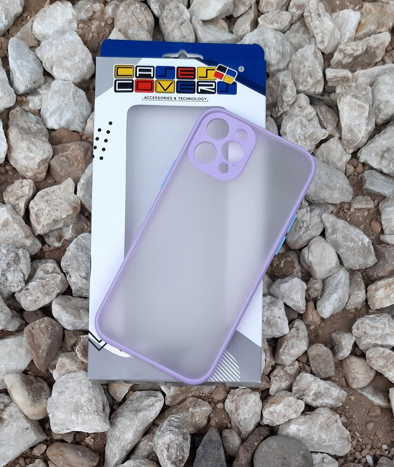 Case  para IPhone12 / Pro, Color Transparente-Borde Violetta