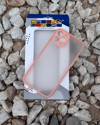 Case  para IPhone12 / Pro, Color Transparente-Borde Rosa