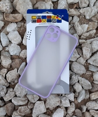 Case para IPhone11 Pro Max, Color Mate Transparente/ Borde Violetta