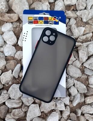 Case para IPhone11 Pro Max, Color Mate Transparente/ Borde Negro
