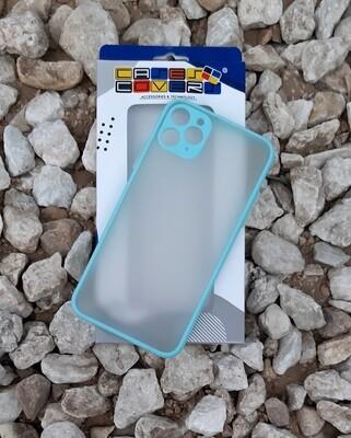 Case para IPhone11 Pro Max, Color Mate Transparente/ Azul Claro