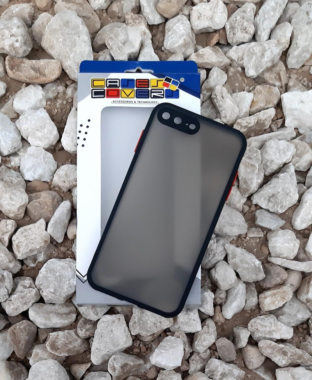 Case para iPhone 7/8 Plus, Color Mate Transparente/ Borde Negro