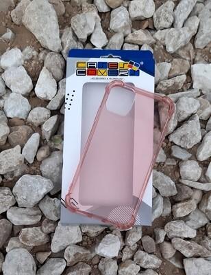 Case de silicona para IPhone11, Color Transparente Rosa