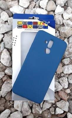 Case Silicona Huawei Mate 20 Lite, Azul Oscuro