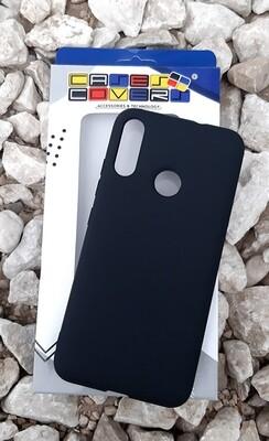 Case Silicona Moto E6 Plus, Negro