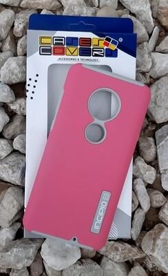Case Dual Pro Incipio Motorola G7, Rosado