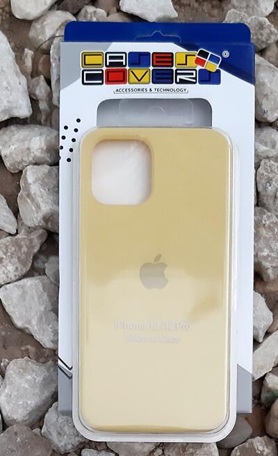 Case de Silicona iPhone 12 / Pro - Amarillo Pastel
