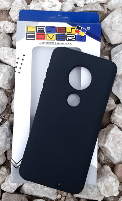 Case Silicona Moto G7, Negro
