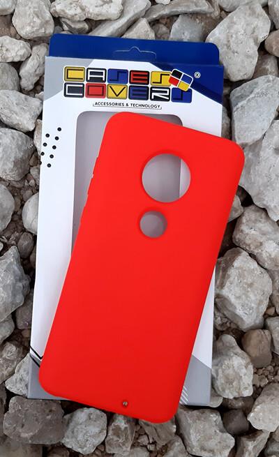 Case Silicona Moto G7, Rojo