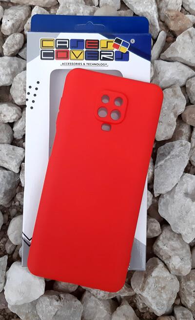 Case de Silicona Redmi Note9 Pro - Rojo