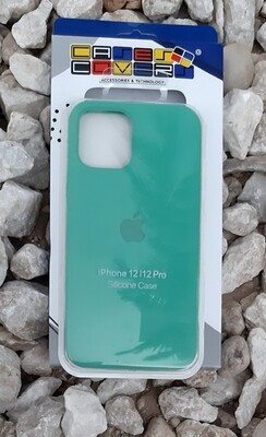 Case de Silicona iPhone 12 / Pro - Verde Menta