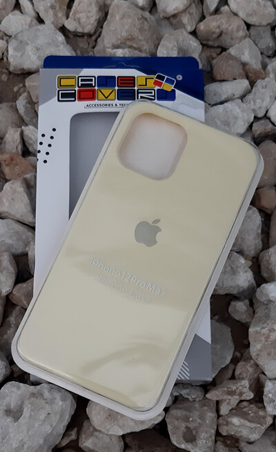 Case silicone iPhone 12 Pro Max, Amarillo Claro