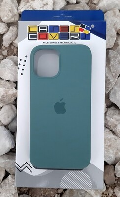 Case silicone iPhone 12 Mini, Azul Oscuro