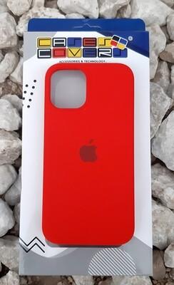 Case silicone iPhone 12 Mini, Rojo