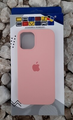 Case silicone iPhone 12 Mini, Rosado