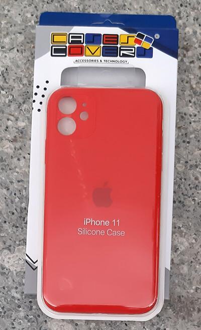 Case silicone Iphone 11, Rojo