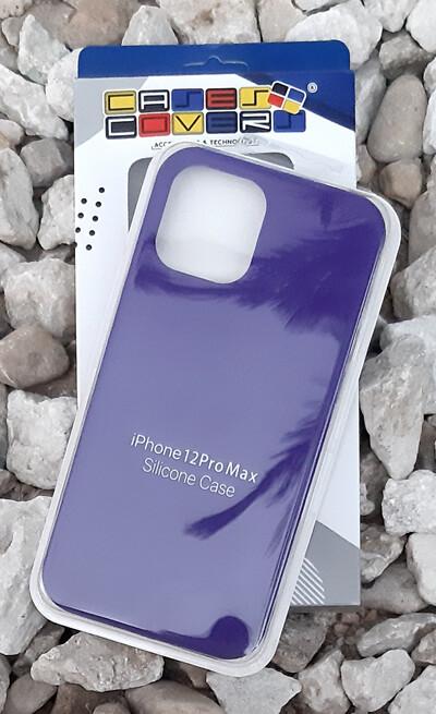 Case silicone iPhone 12 Pro Max, Morado