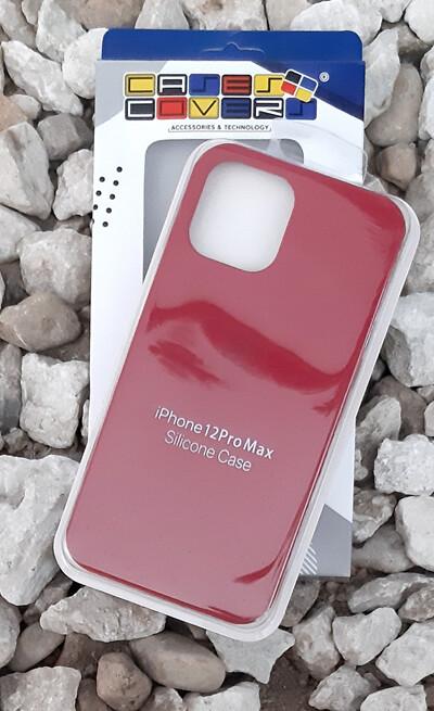 Case silicone iPhone 12 Pro Max, Cereza