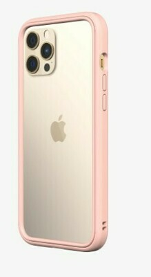 Bumper Case RhinoShield para iPhone 12 Pro Max, Color Rubor Rosa