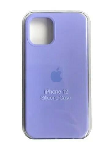 Case silicone iPhone 12 Mini, Color Lila