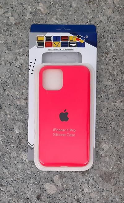 Case silicone Iphone 11 Pro, Rosado Oscuro
