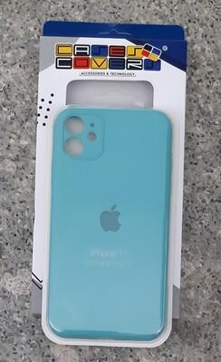 Case de Silicona Iphone 11, Verde Menta