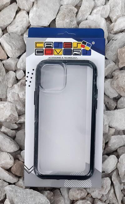 Case Iphone 11 Pro, Transparente/Negro