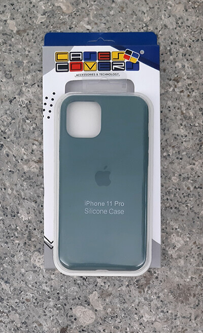 Case silicone Iphone 11 Pro, Verde Militar