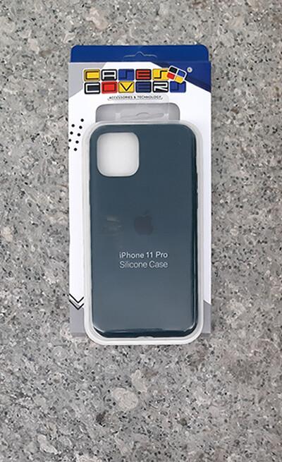 Case de Silicona Iphone 11 Pro, Azul Oscuro