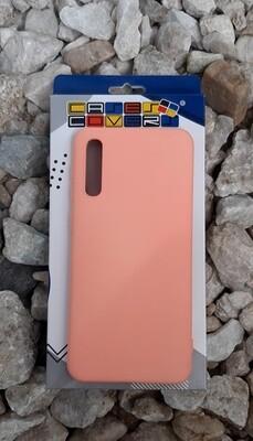 Case de silicona Samsung Galaxy A30S, Palo Rosa