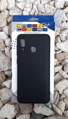 Case de silicona Samsung Galaxy A30, Color  Negro
