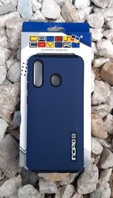 Case Dual Pro Incipio Samsung Galaxy A20, Azul/Negro