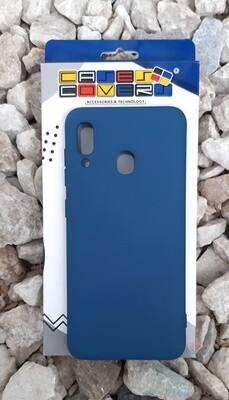 Case de silicona Samsung Galaxy A30, Color Azul