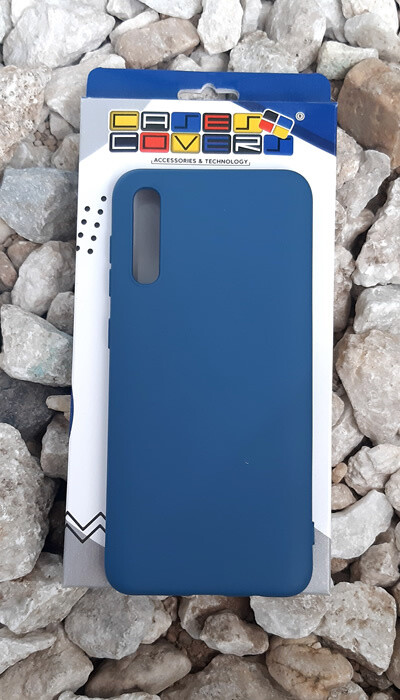 Case de silicona Samsung Galaxy A30S, Color Azul