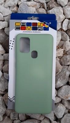 Case de silicona Samsung Galaxy A21S, Verde Limón