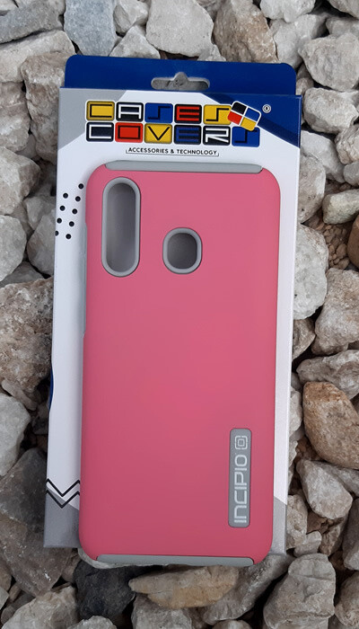 Case Dual Pro Incipio Samsung Galaxy A20, Rosa/Gris