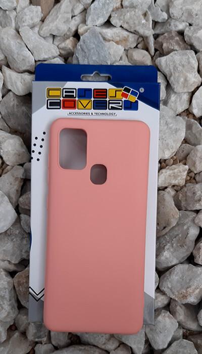 Case de silicona Samsung Galaxy A21S, Rosa
