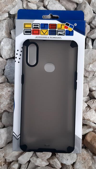 Case translúcido Samsung Galaxy A10S, Gris/Negro