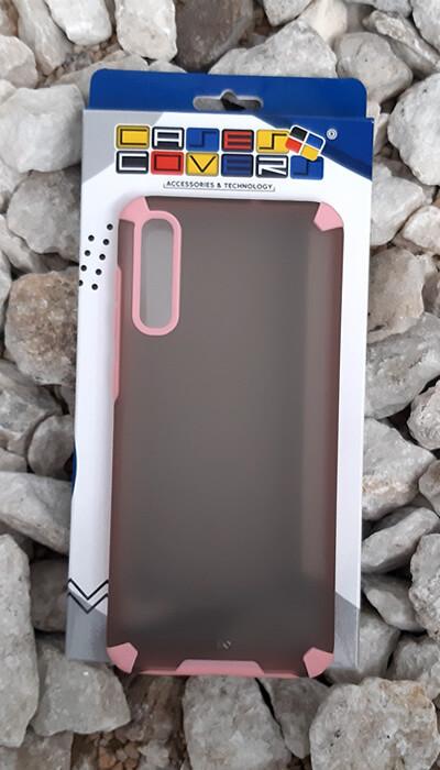 Case translúcido Samsung Galaxy A50, Gris/Rosa