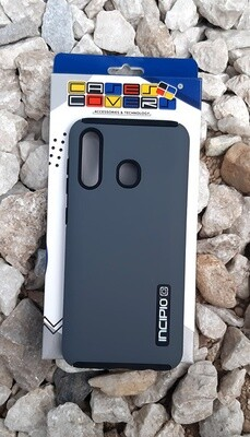 Case Dual Pro Incipio Samsung Galaxy A20, Gris/Negro