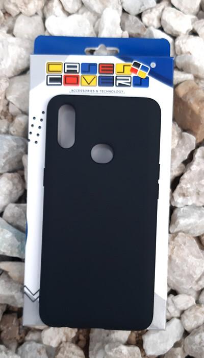 Case de silicona Samsung Galaxy A10S, Color Negro