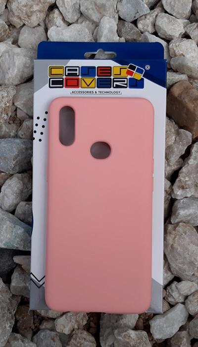 Case de silicona Samsung Galaxy A10S, Color Rosa