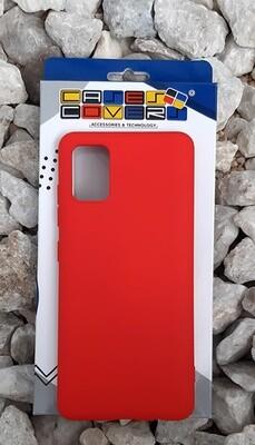 Case de silicona Samsung Galaxy A51, Rojo