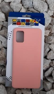 Case de silicona Samsung Galaxy A51, Rosa