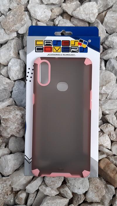 Case translúcido Samsung Galaxy A10S, Gris/Rosa