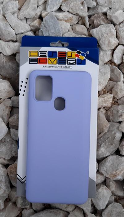Case de silicona Samsung Galaxy A21S, Lila