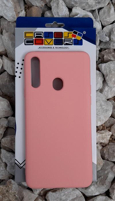 Case de silicona Samsung Galaxy A20S, Palo Rosa