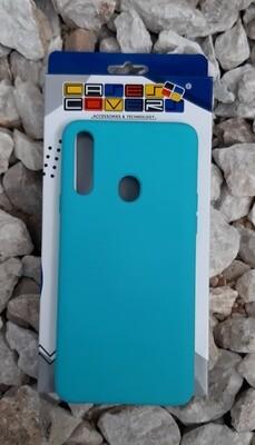 Case de silicona Samsung Galaxy A20S, Verde Menta