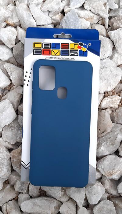 Case de silicona Samsung Galaxy A21S, Azul